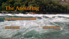 The Anointing Pt.2 To furnish What Is Needed