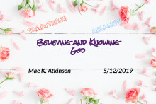 Believing and Knowing God